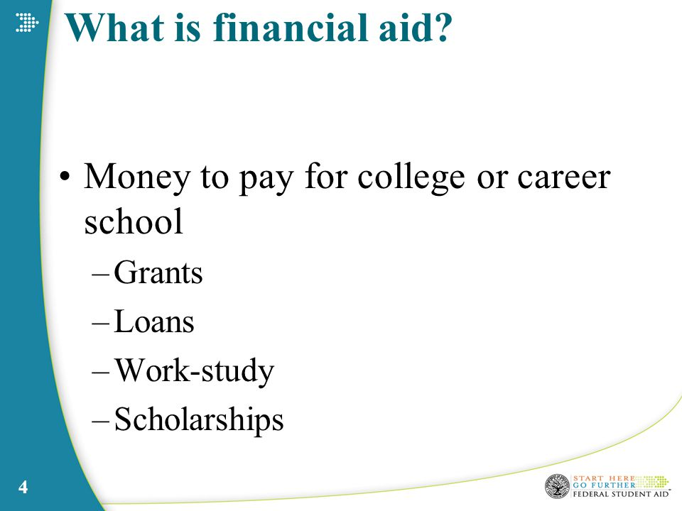 4 What is financial aid.