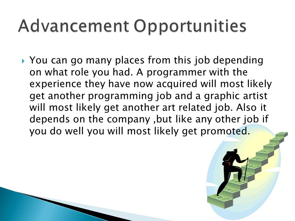  You can go many places from this job depending on what role you had.
