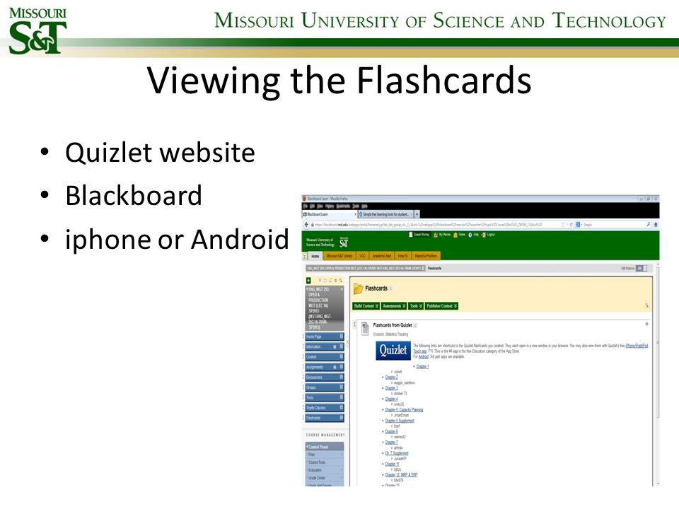 Evaluation of Electronic Flashcards as a Tool to Improve