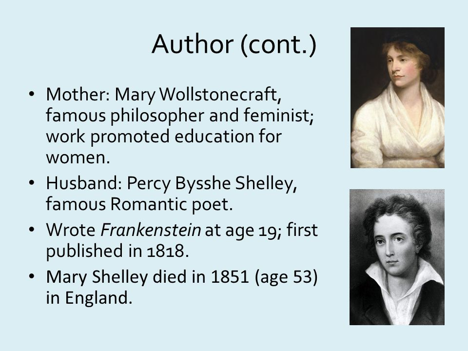 critical analysis of mary shelleys frankenstein Frankenstein has so overshadowed mary shelley's other books in the popular imagination that many readers believe - erroneously­ that she is a one-book author.