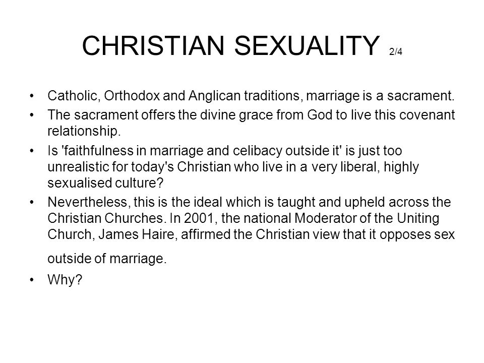 Christian virginity and sex