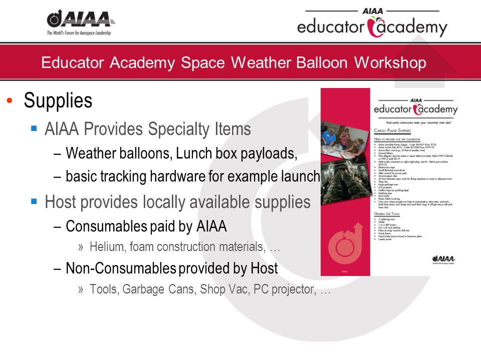 Thank You for Joining Us Today! Introduction to the AIAA