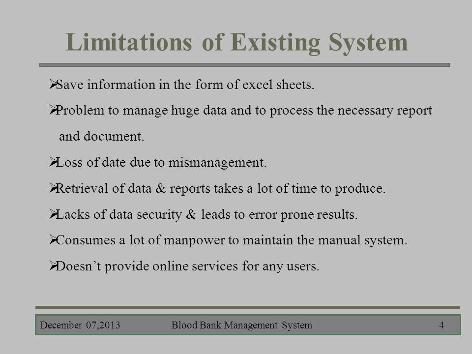 limitation of hotel management system