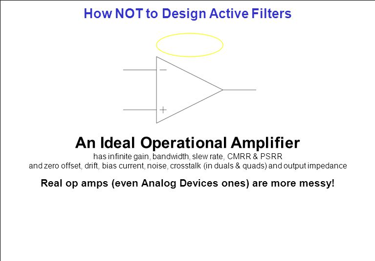 How Not To Design Active Filters Active Filter Design Software Is Flexible Inexpensive And Easy To Use But Practical Aspects Of Hardware Design Frequently Ppt Download