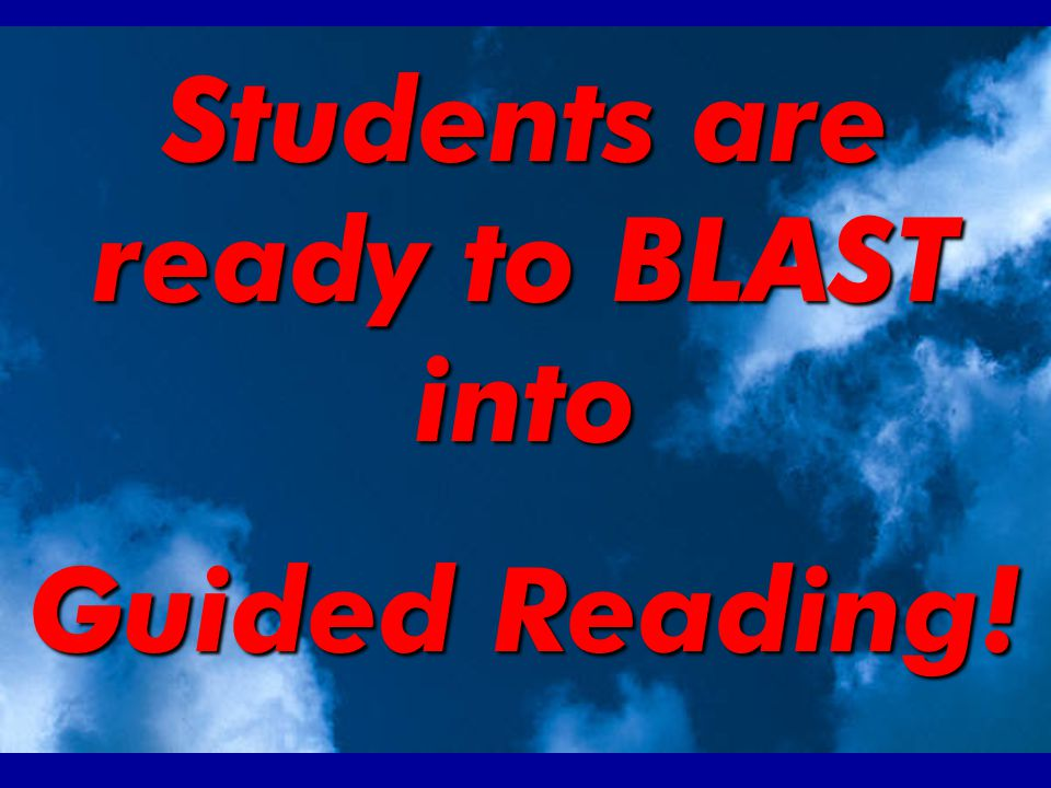 1… What happens when students are finished reading.