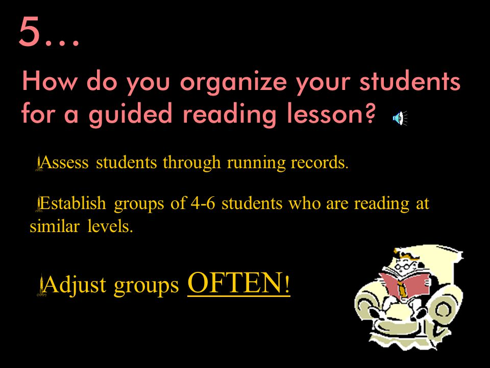 How do you organize for guided reading 6… Learning Centers!