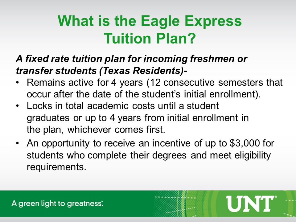 What is the Eagle Express Tuition Plan.