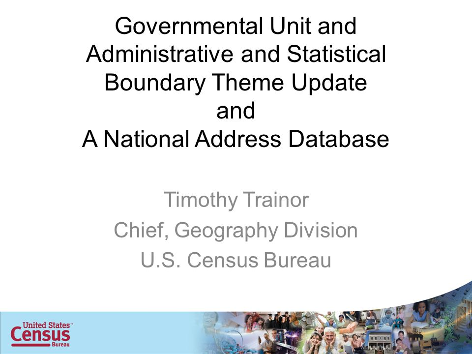 Governmental Unit and Administrative and Statistical