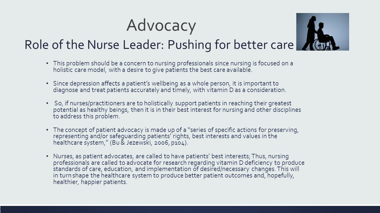 how do nurses advocate for their patients