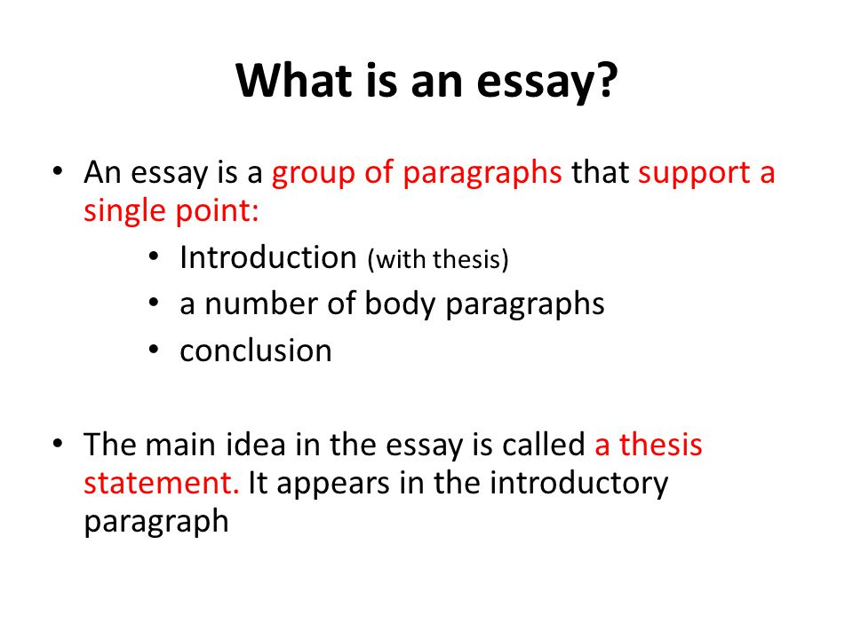How to write an essay what is an essay an essay is a group of