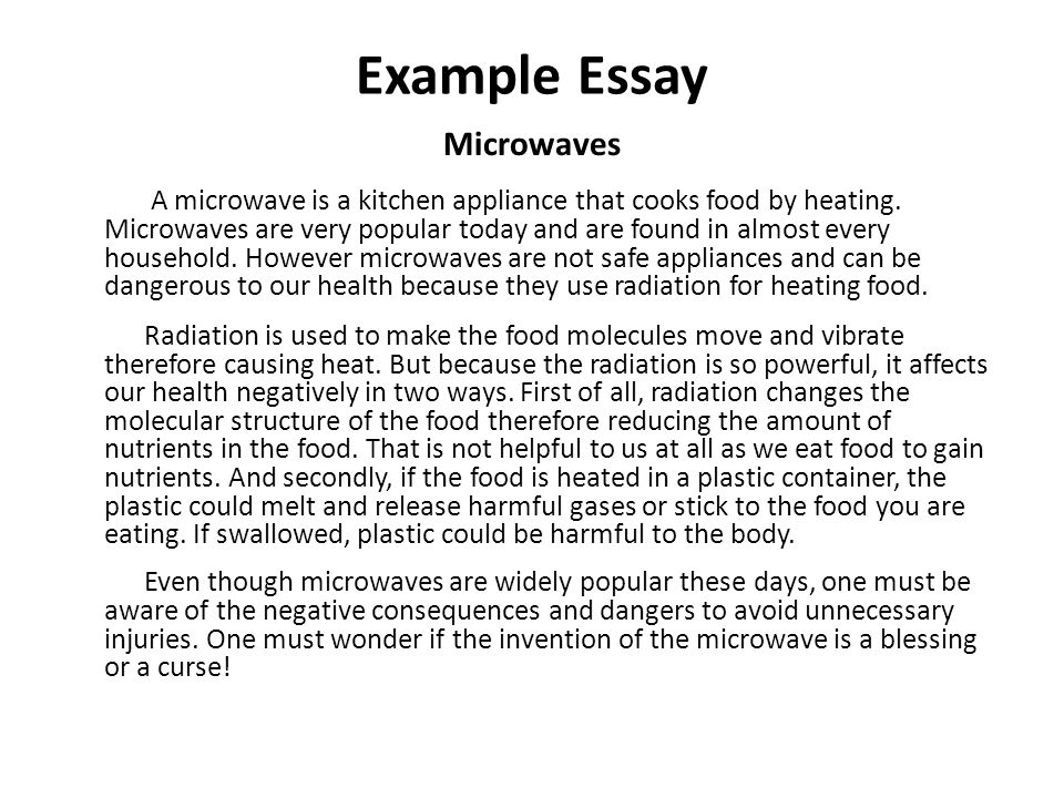 Business Strategy Essay Example Essay Microwaves A Microwave Is A Kitchen Appliance That Cooks Food  By Heating Essay About Healthy Food also Population Essay In English How To Write An Essay What Is An Essay An Essay Is A Group Of  Student Life Essay In English