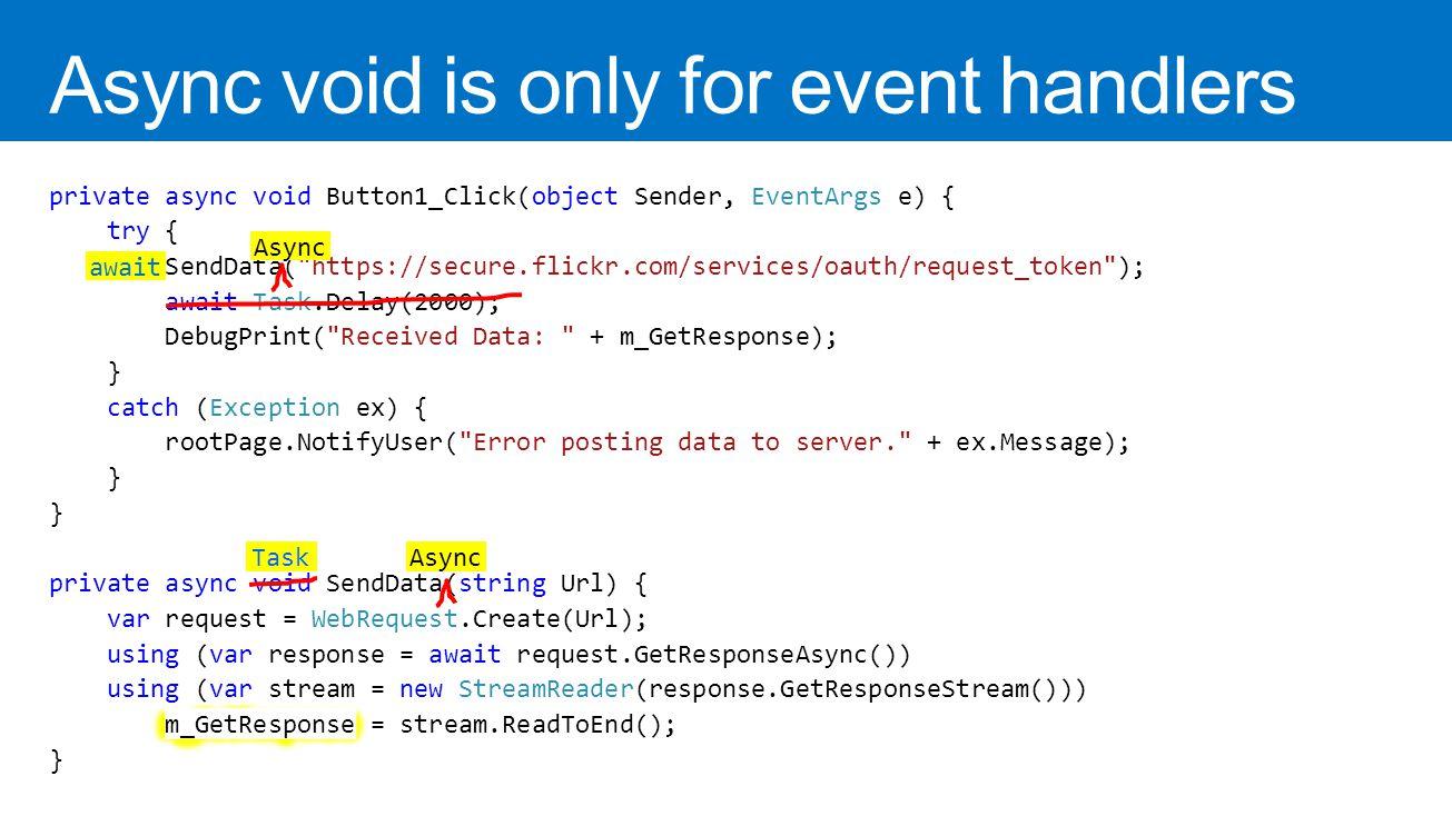 Async void event handler