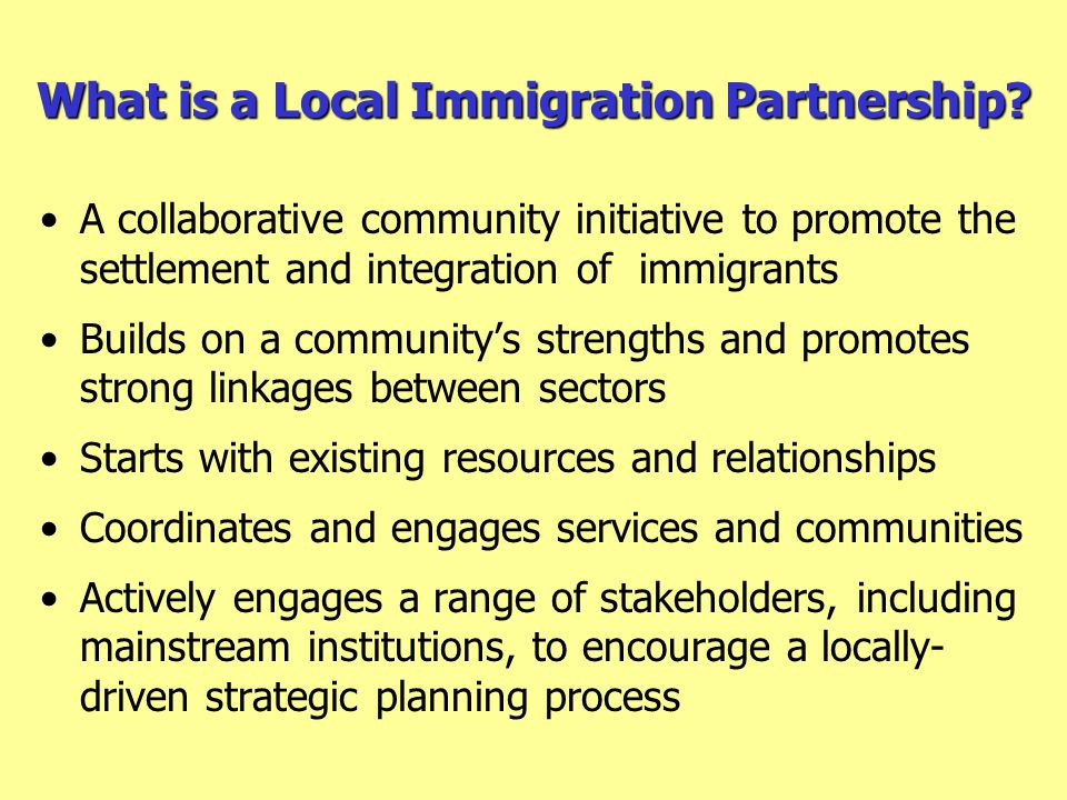 What is a Local Immigration Partnership.