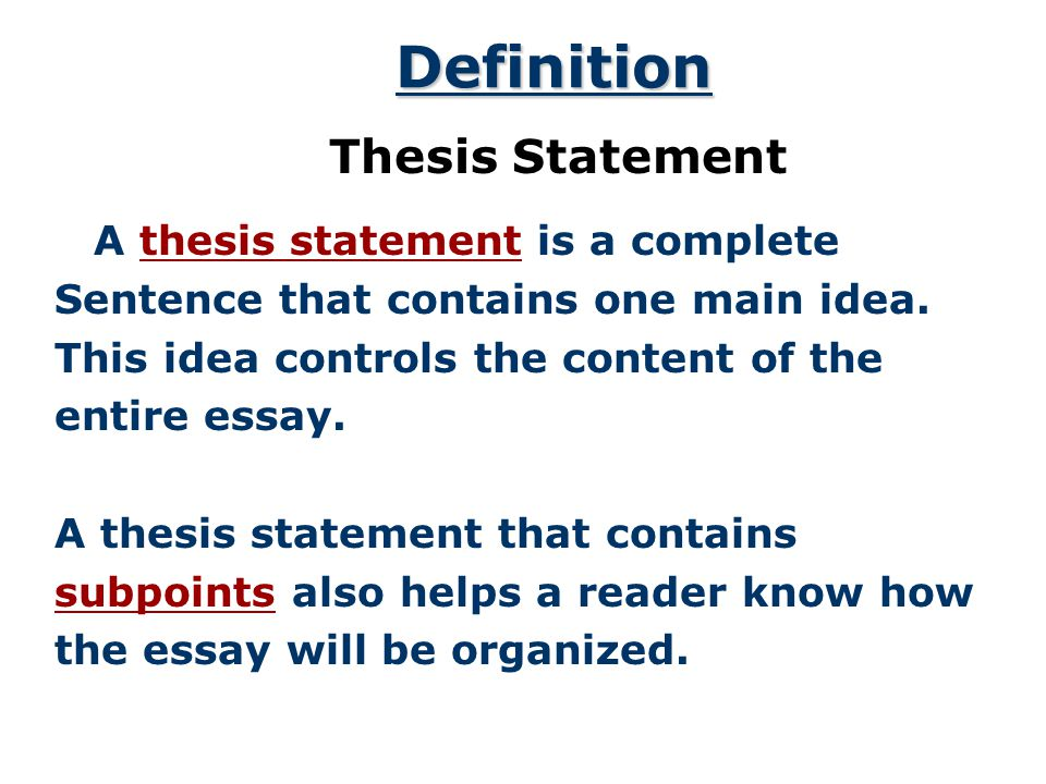 the thesis statement a road map for your essay essay introduction   thesis statements