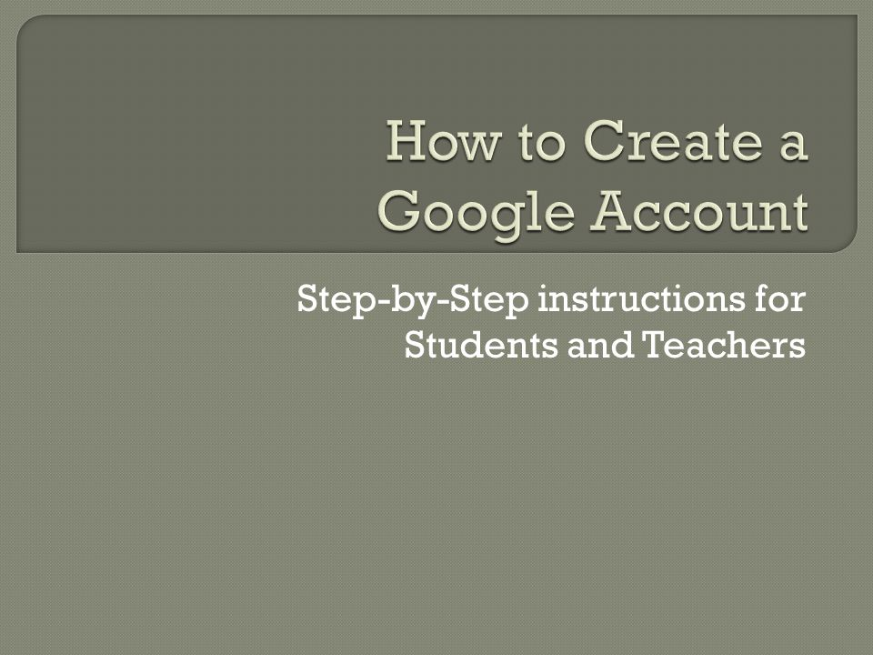 Step-by-Step instructions for Students and Teachers