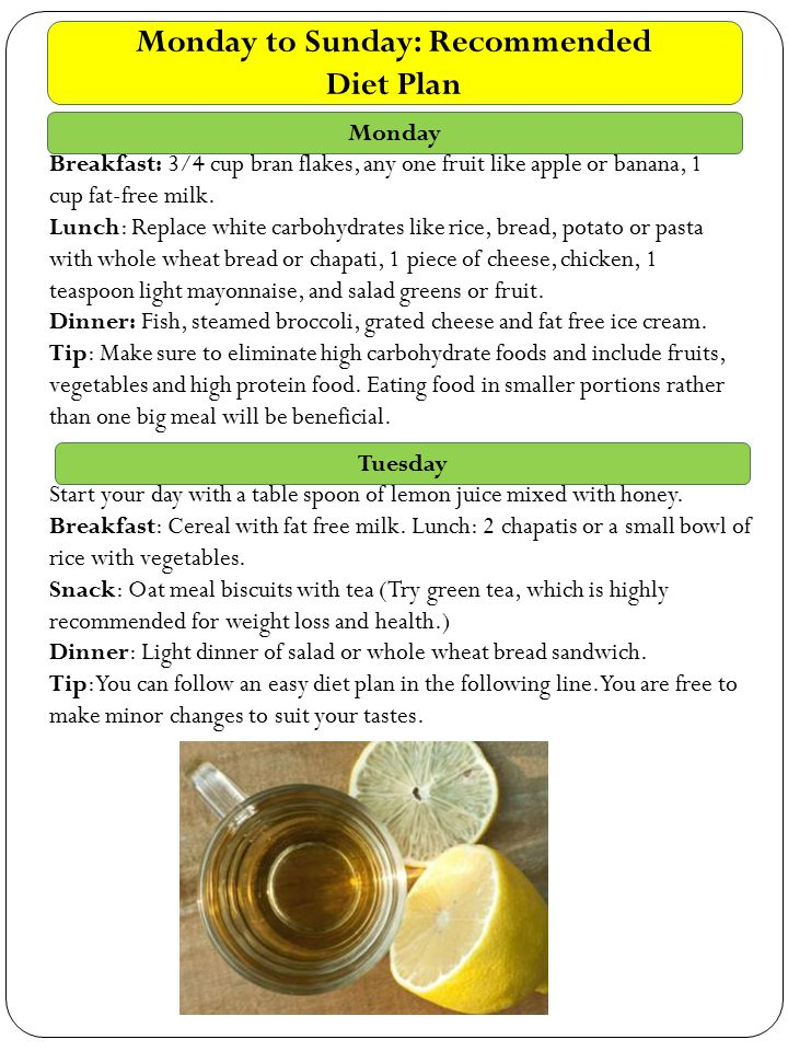 RECOMMENDATIONS FOR HEALTHY LIVING An Advisory to fight