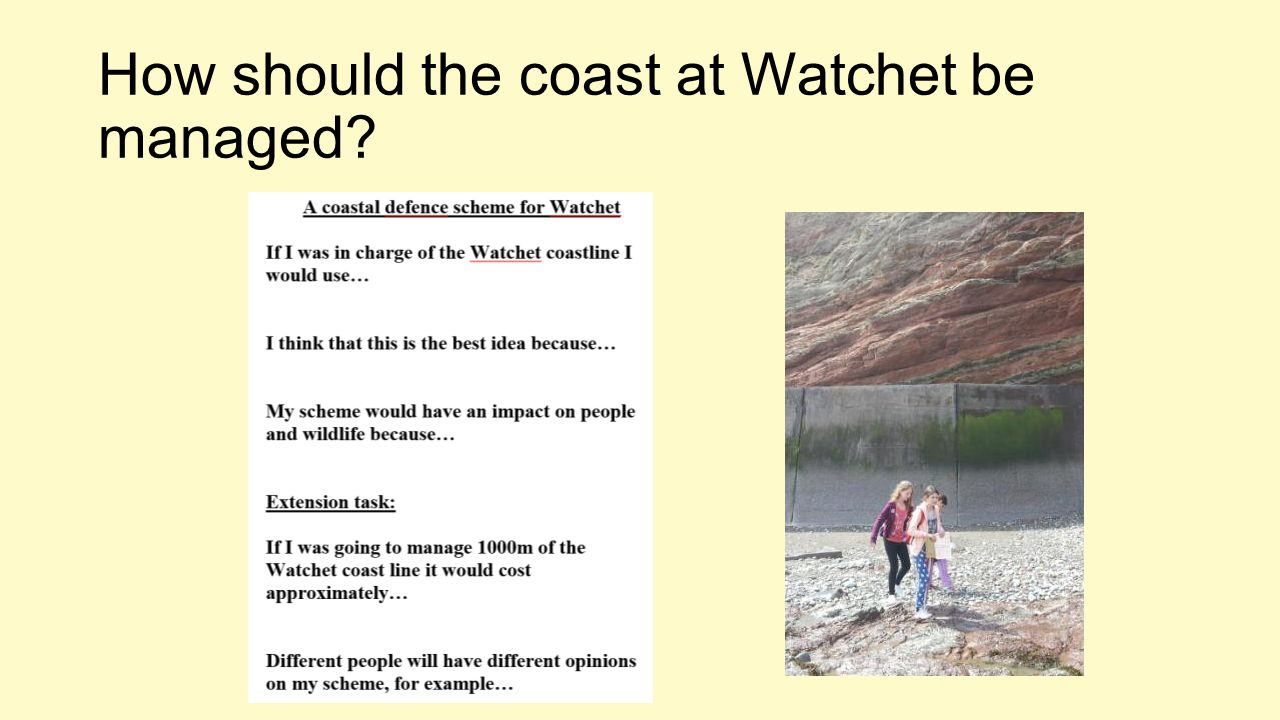 How should the coast at Watchet be managed