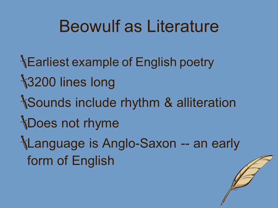 Beowulf An Epic Poem What Is An Epic Or A Saga A Long Story
