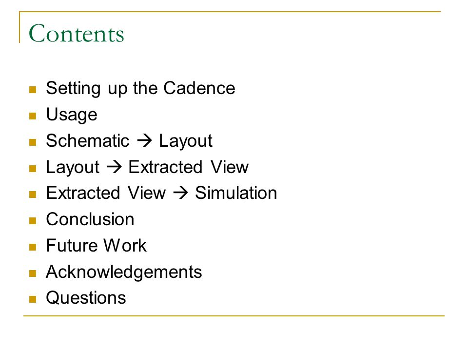 Cadence Tutorial -- Presented by Chaitanya Emmela VLSI
