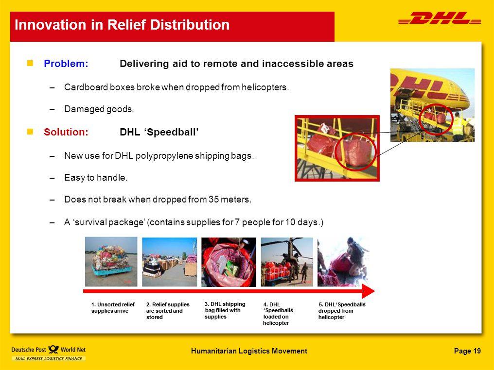DHL Disaster Response Team Humanitarian Logistics Movement