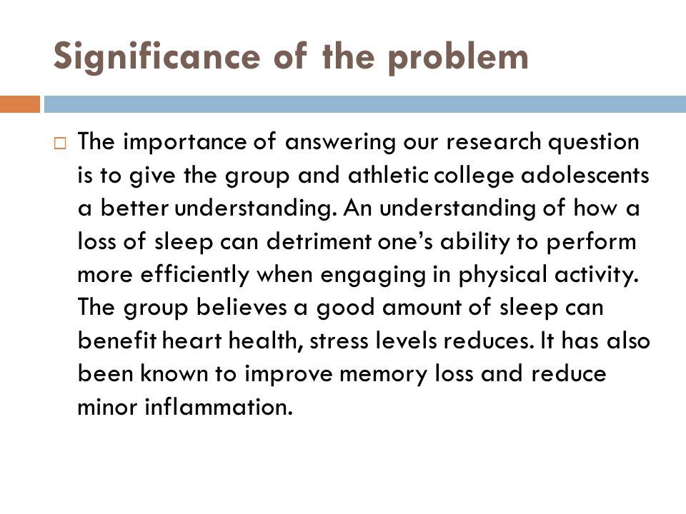 sleep research paper
