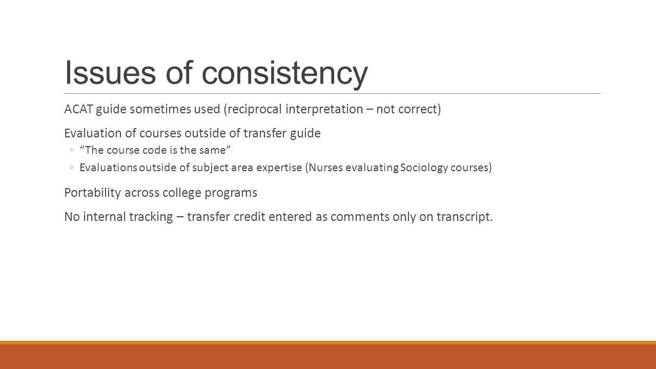 colleges as transfer credit receiving institutions warucc 2015