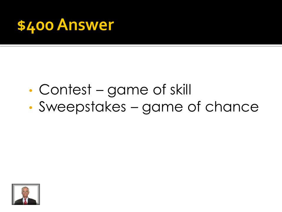 What is the difference between a contest and sweepstakes