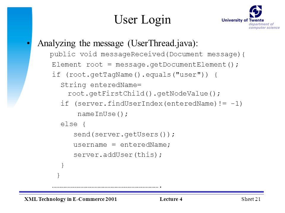 Sheet 1XML Technology in E-Commerce 2001Lecture 4 XML