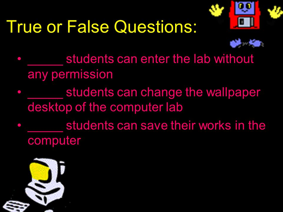 10 Computer Lab Regulations 11 Computer Lab Rules 12 User 13