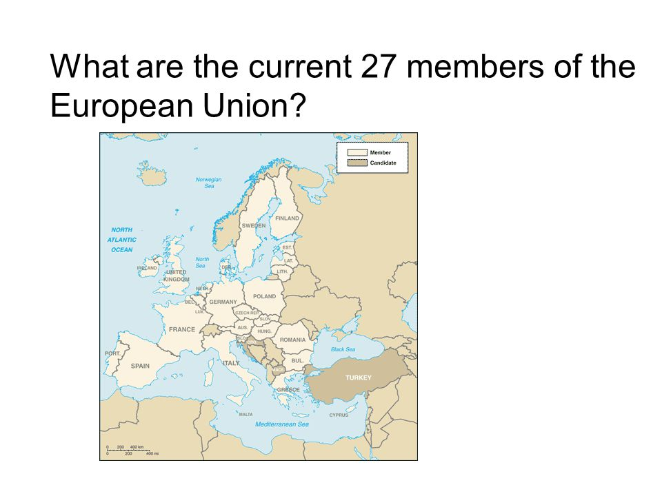 What are the current 27 members of the European Union