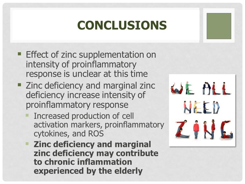 IMPLICATIONS FOR AGE-RELATED CHRONIC INFLAMMATION THE EFFECT OF ZINC