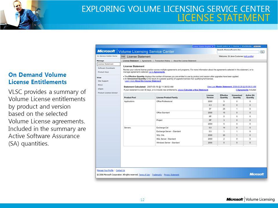 Volume Licensing Service Center Overview Presentation V10 August