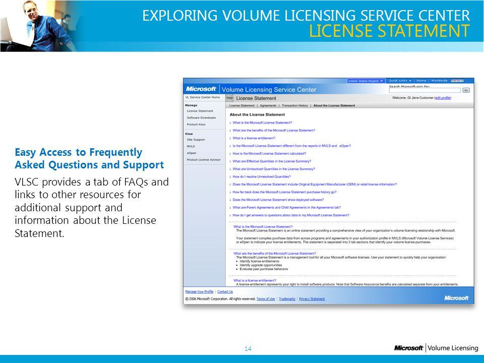 volume license support
