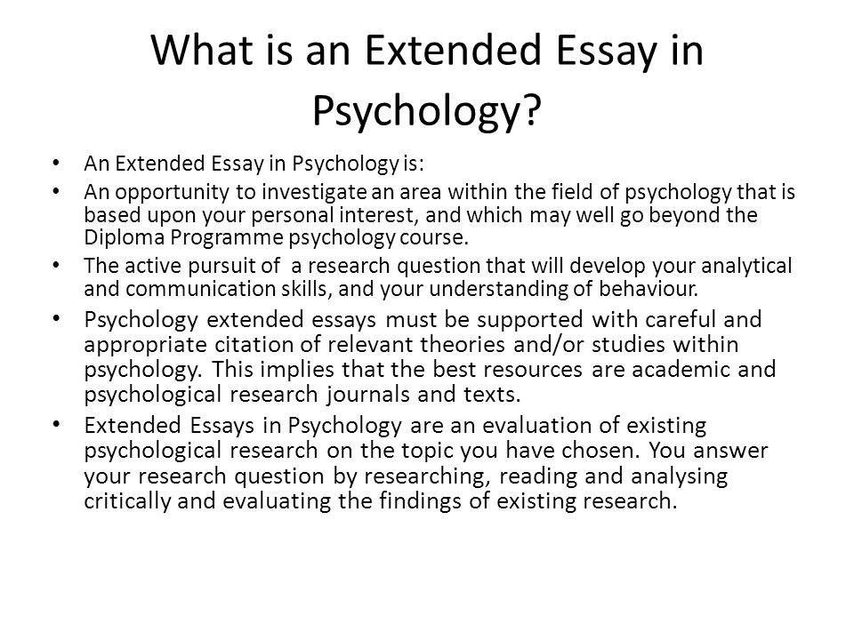 """What is Psychology? The IB defines Psychology as, """"the systematic ..."""