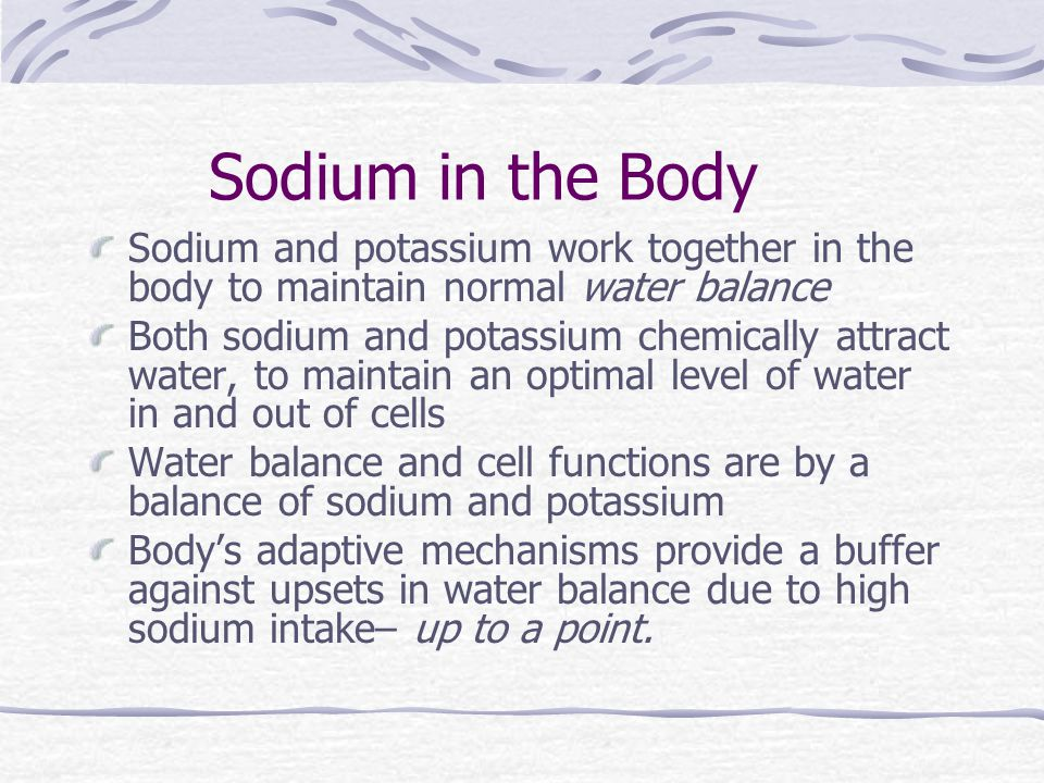 high sodium and potassium levels in blood
