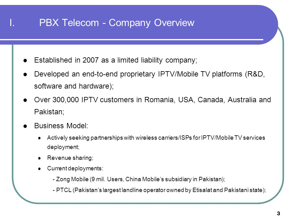Rethink IPTV services Mobile TV & IPTV platforms PBX TV