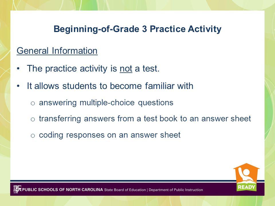 Beginning-of-Grade 3 Practice Activity Fall ppt download