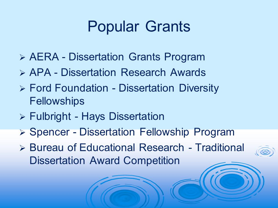Graduate & Dissertation Funding Workshop Research Opportunities