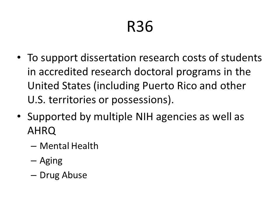 dissertation award (r36)