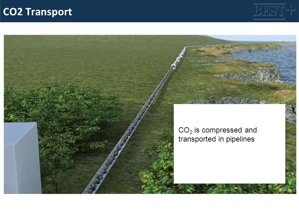 CO2 Transport CO 2 is compressed and transported in pipelines