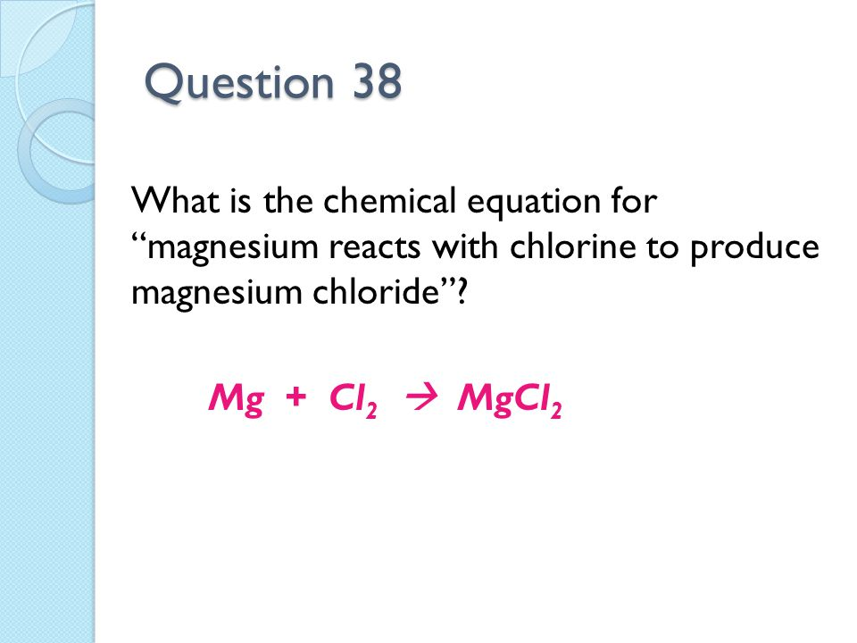 Unit 7 Reactions Exam Review Question 1 Potassium Calcium Sodium