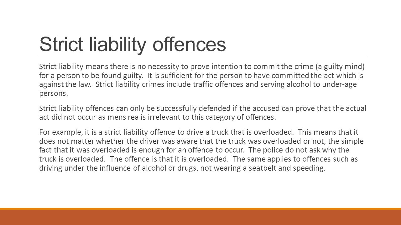 how do we justify imposing strict liability Under the doctrine of strict liability, liability is strictly based on the obvious fault of the defendant(t/f) dirk is driving a sport utility vehicle is in which elin is a passenger when they are invovled in a traffic accident, and elin is injured liability may be imposed on dirk for elin's injury if.