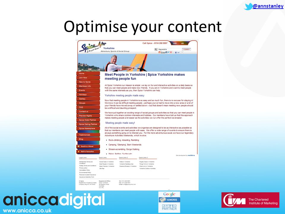 @annstanley Optimise your content