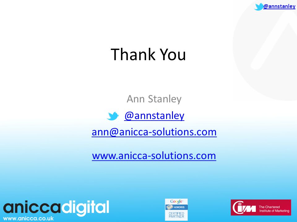 @annstanley Thank You Ann