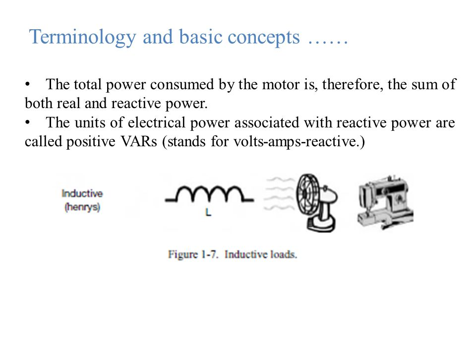The total power consumed by the motor is, therefore, the sum of both real and reactive power.