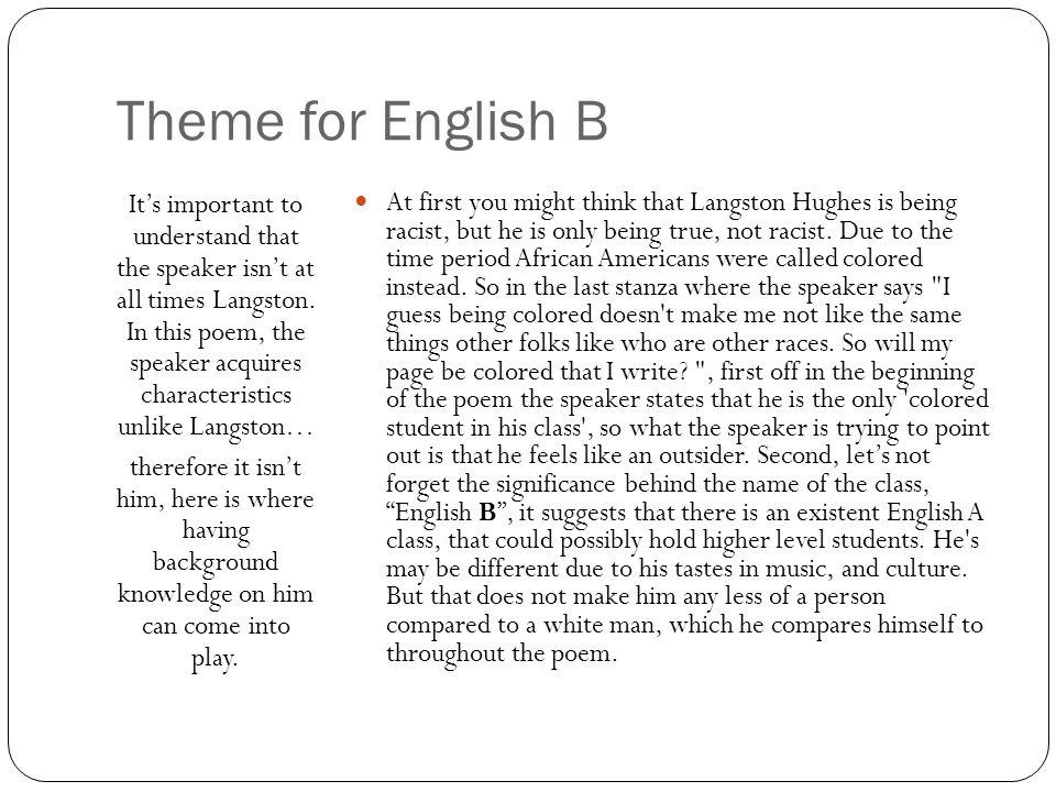 english b poem