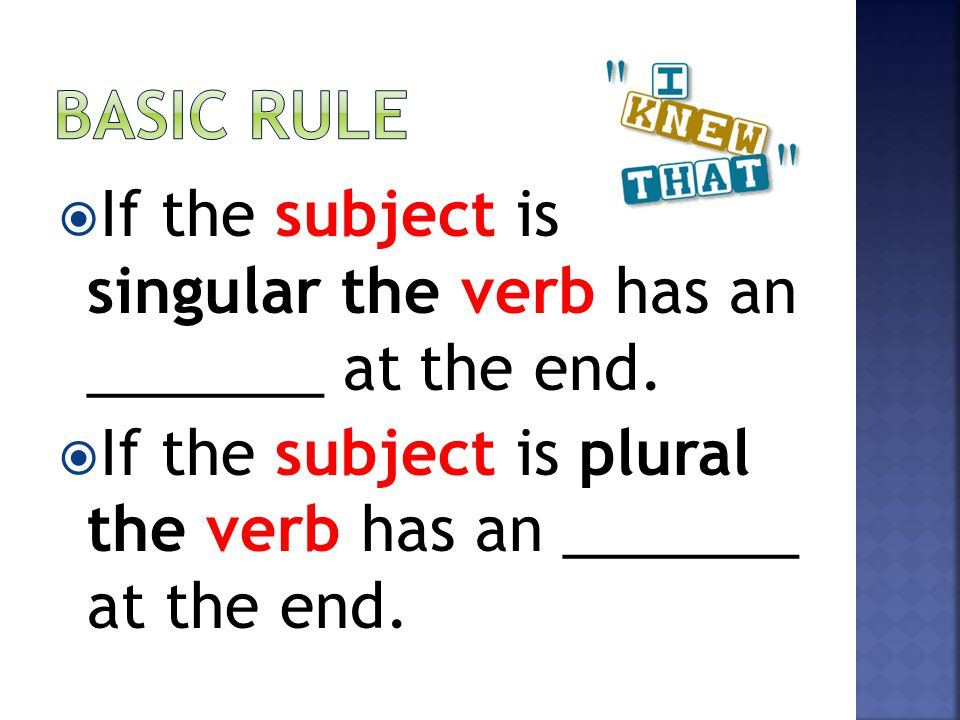 Choose The Sentence In Which The Subjects And Verbs Have Been