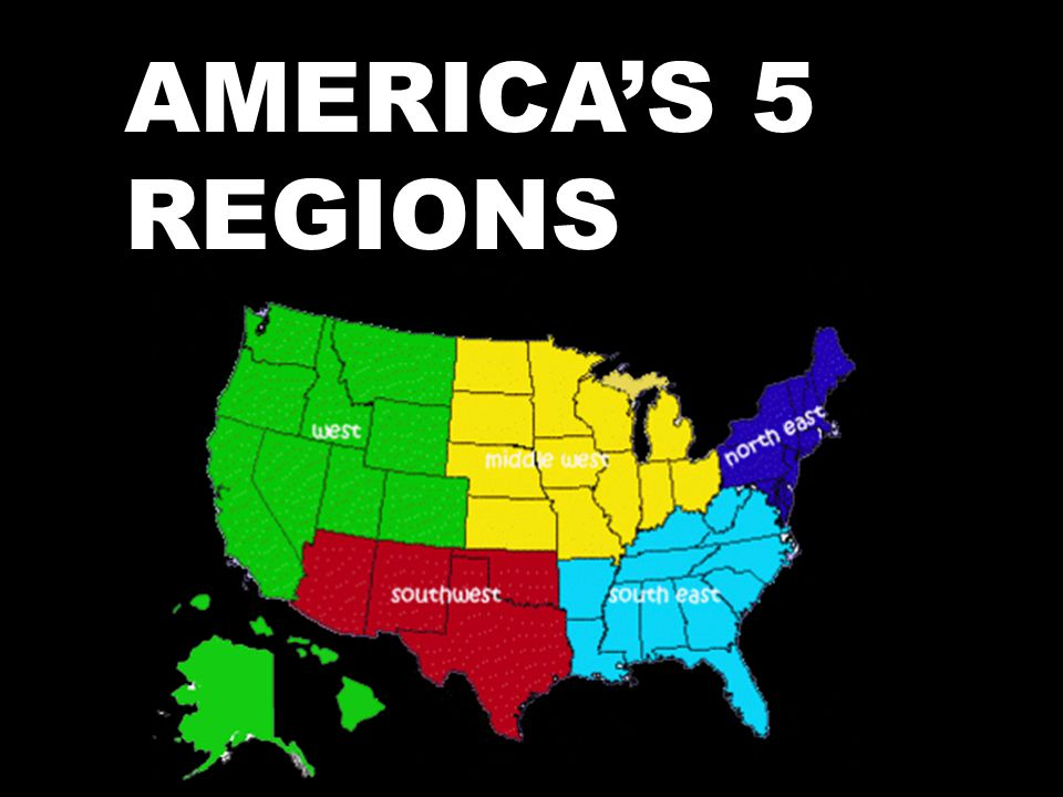 Regions Of The United States on