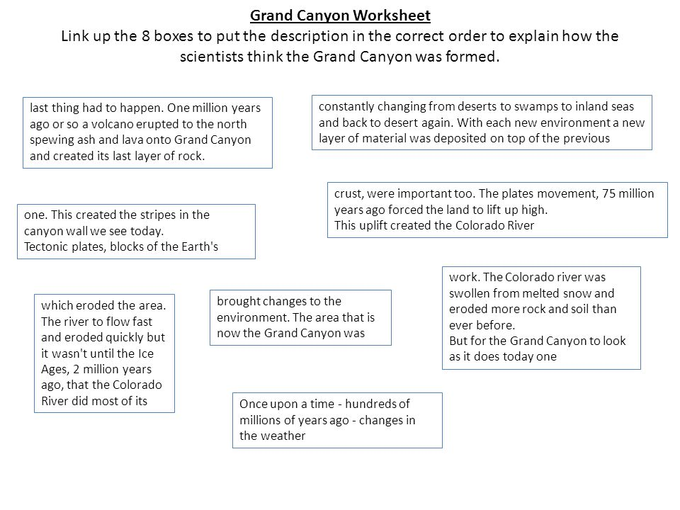 Do Now Task What Questions Could You Ask About This Write. 8 Grand Canyon Worksheet. Worksheet. Grand Canyon Worksheets At Clickcart.co