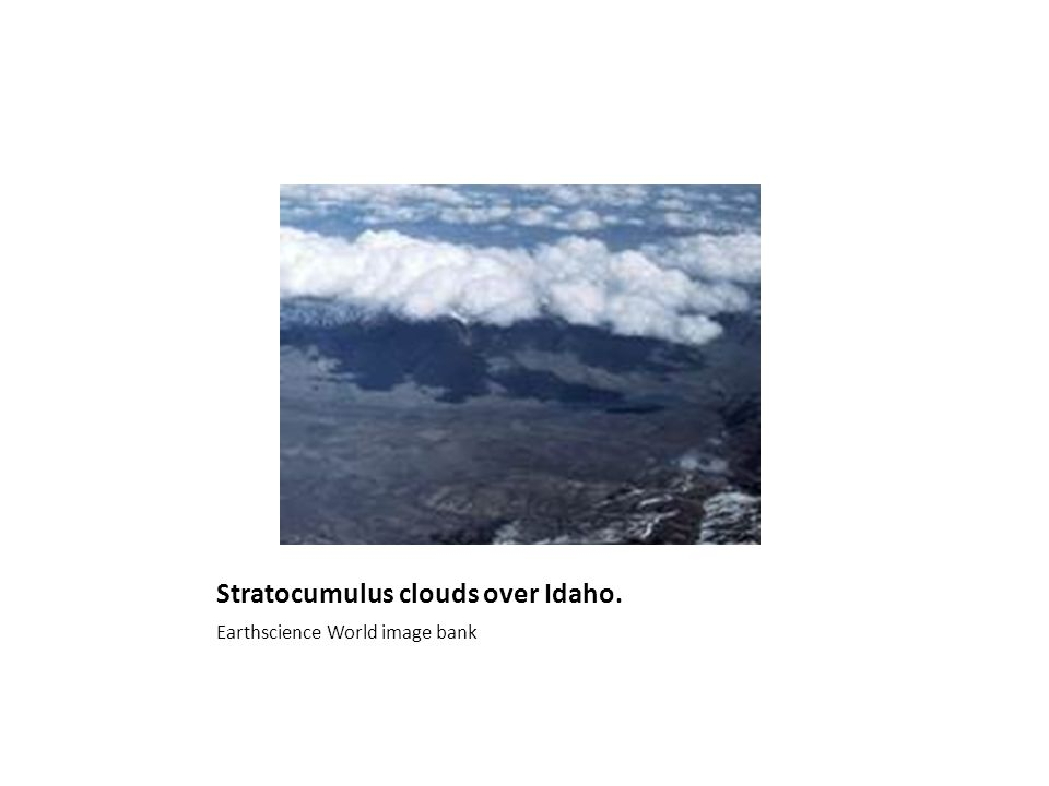 Stratocumulus clouds over Idaho. Earthscience World image bank